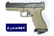 Action Combat Pistol Tan Facelift
